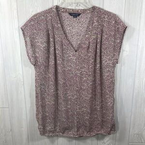 Lands' End Pinkish Purple Classic Blouse Top 2
